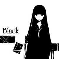 黑白手绘动漫画风格的微信头像