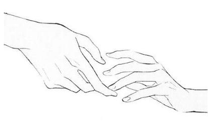 手绘两只手情侣头像,简约微信手绘两只手情侣头像