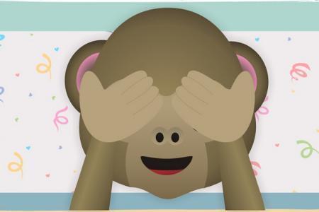 微信猴子捂眼睛表情图片素材_微微风图片