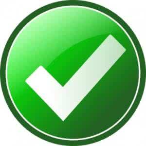 微信绿色对号图标素材