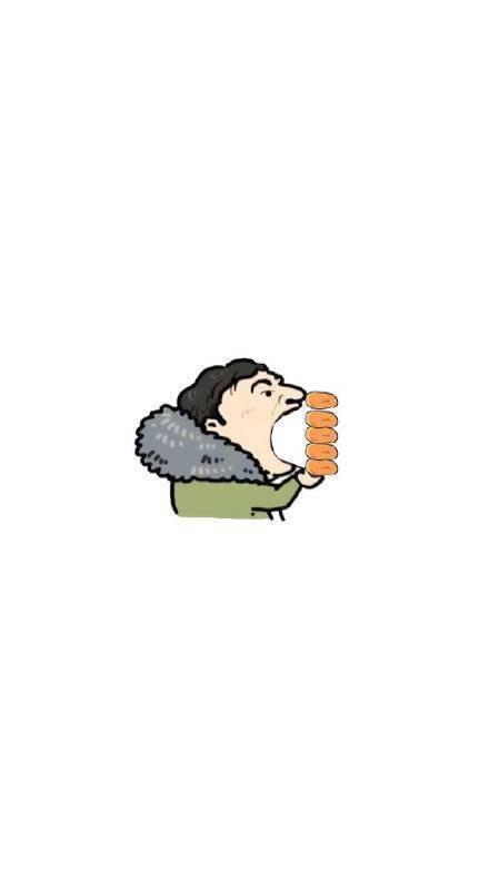 王思聪吃热狗壁纸